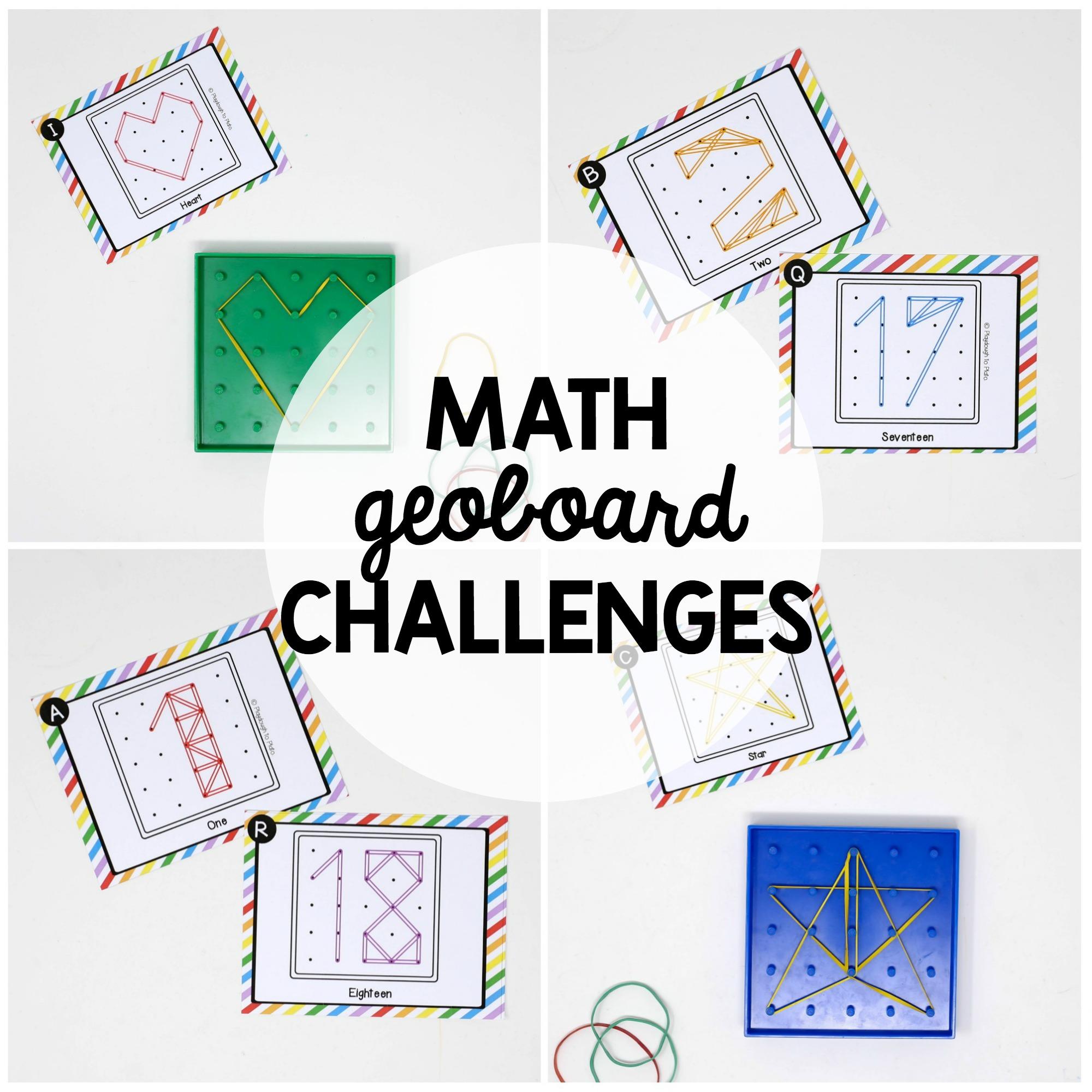 Math Geoboard Challenges