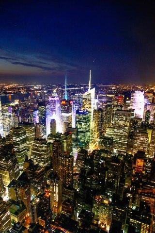 ニューヨークの夜景/アメリカ