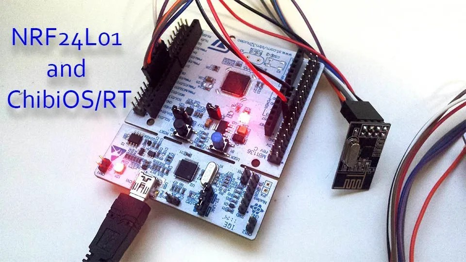 A Radio Frequency transceiver library nRF24L01 and ChibiOS/RT