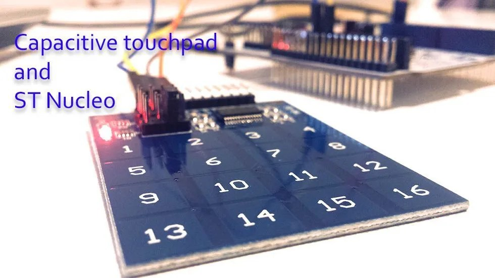 Capacitive touchpad and ST Nucleo