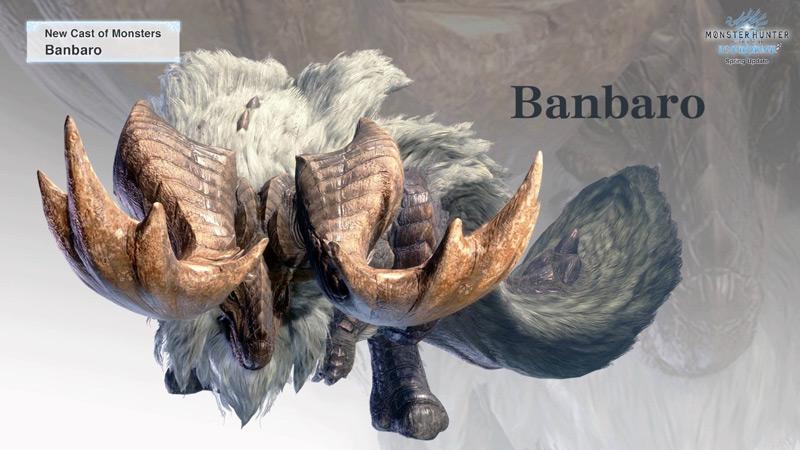 Monster Hunter World, Iceborn, Nuovi mostri, mostri glaciali, mappa ghiacciata, Banbaro,