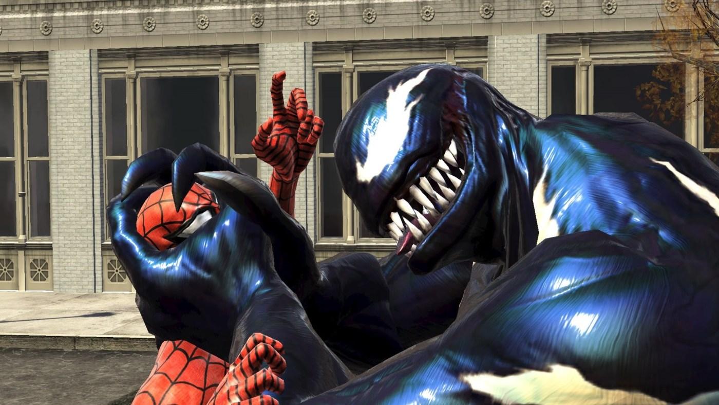 spiderman web shadow venom en videojuegos