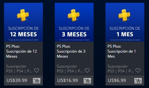PlayStation plus precio
