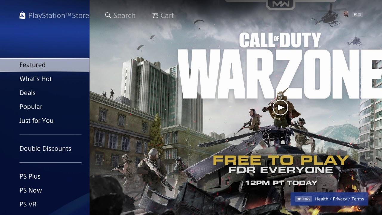 Descargar call of duty warzone PS4