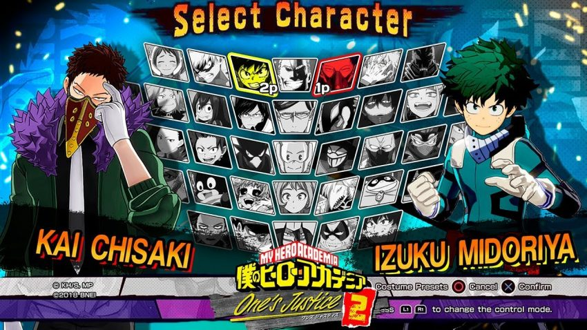 My hero one's justice 2 roster