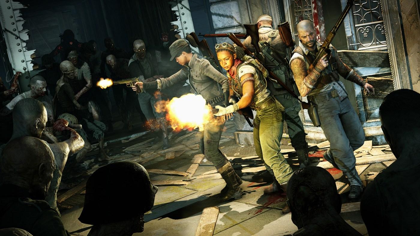 Zombie army 4 personajes
