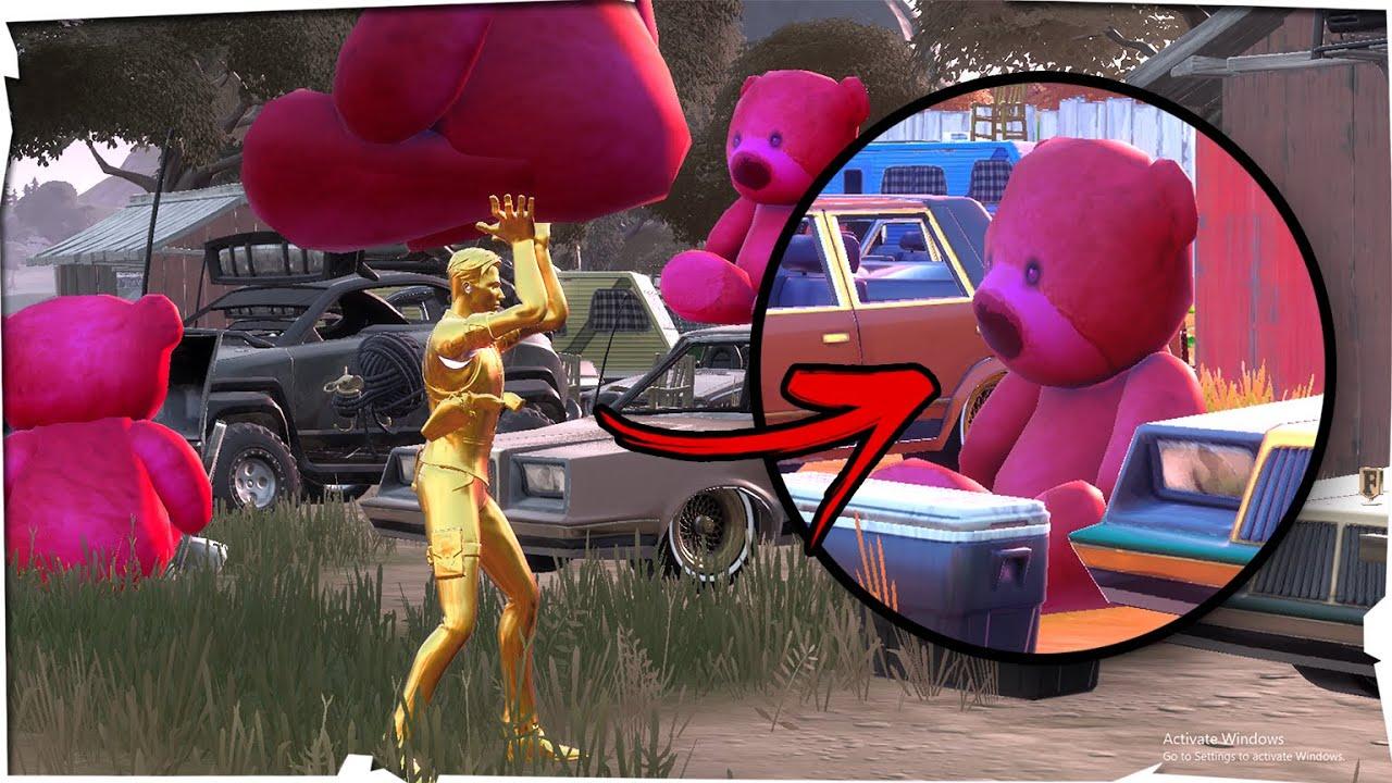 fortnite osos de peluche rosa gigante ubicación