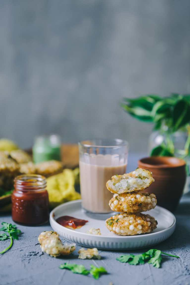 Sabudana Vada Fried and Baked #navratri #indianfood #foodphotography