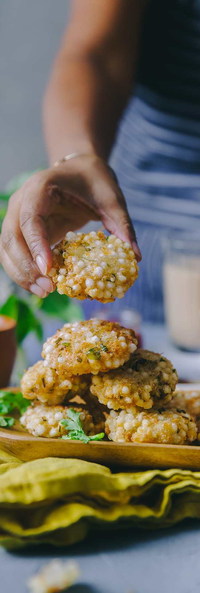 Sabudana Vada Fried and Baked #foodphotography #glutenfree #snacks #fingerfood