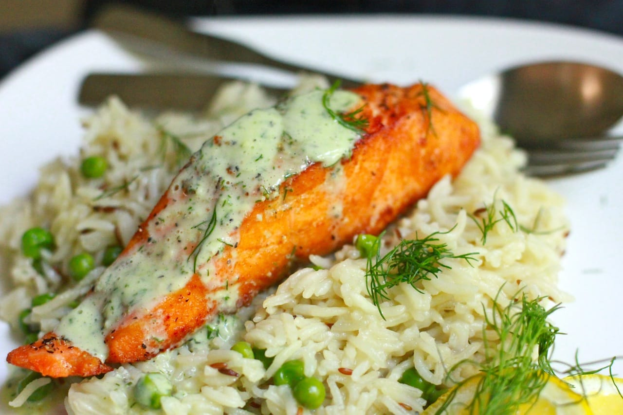 salmon with rice 6