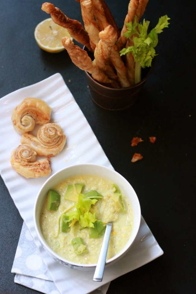 Zucchini & Avocado Cold Soup with Crispy Sticks 6