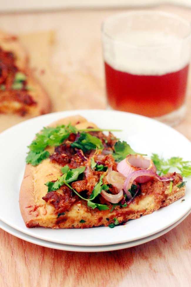 Baigan Bharta (Roasted Mashed Eggplant) Pizza 6