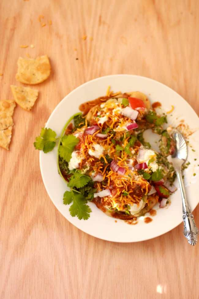 Papri Chaat - Indian Street Food treat - Guest Post for Shulie @ Food Wanderings 6
