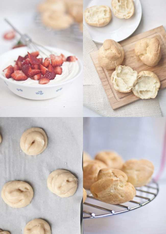 Cream Puffs filled with Strawberry and Mascarpone - Guest Post for Ananda @ A Pinch of Love 3