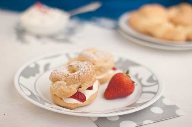 Cream Puffs filled with Strawberry and Mascarpone - Guest Post for Ananda @ A Pinch of Love 7
