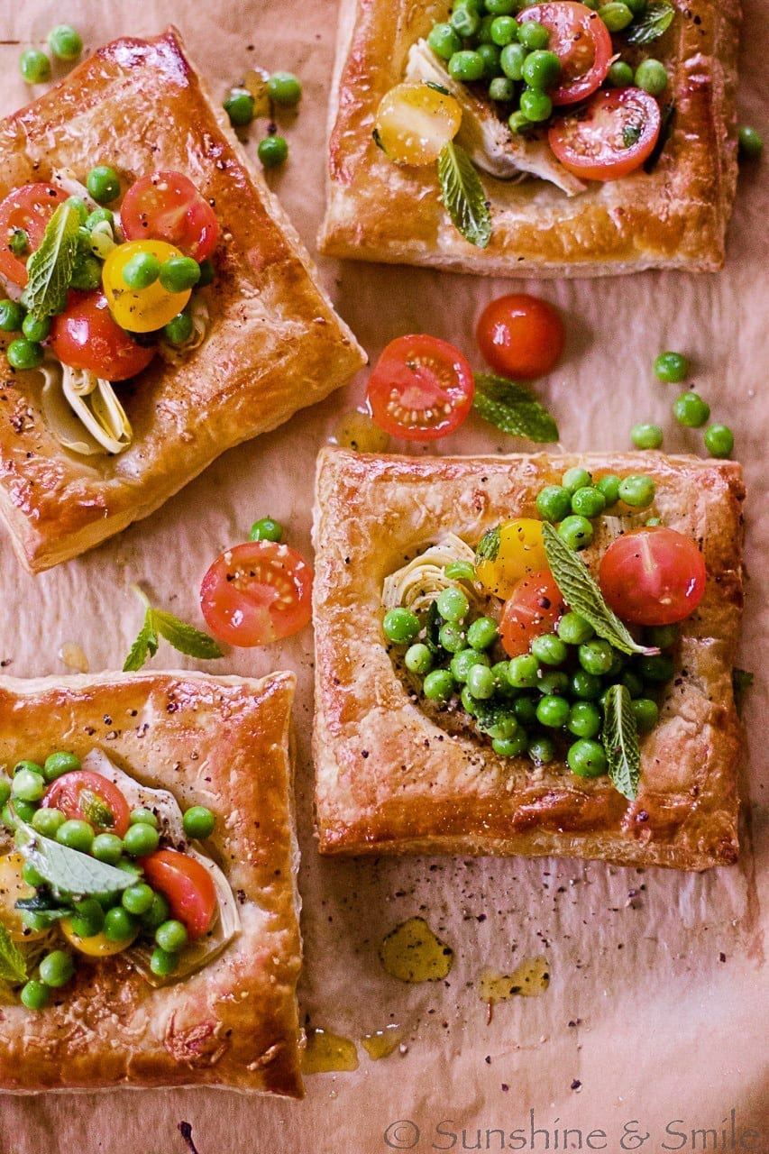 Artichoke and Tomato Salad Tarts - DHSP Challenge #7 4