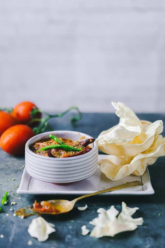 Sweet and Spicy Tomato Chutney | Bengali chutney recipe