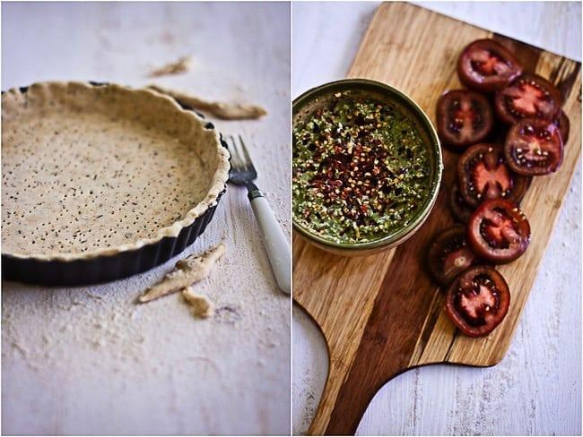 Tomato Tart with Basil and Paneer 3