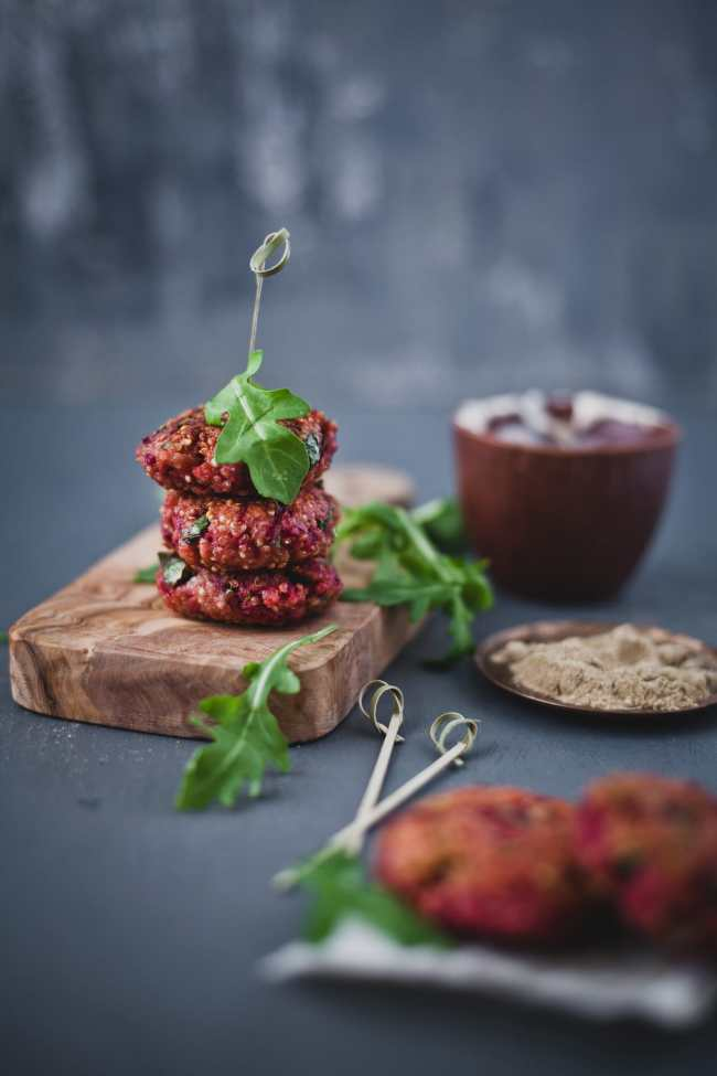Beetroot Quinoa Patties | Playful Cooking