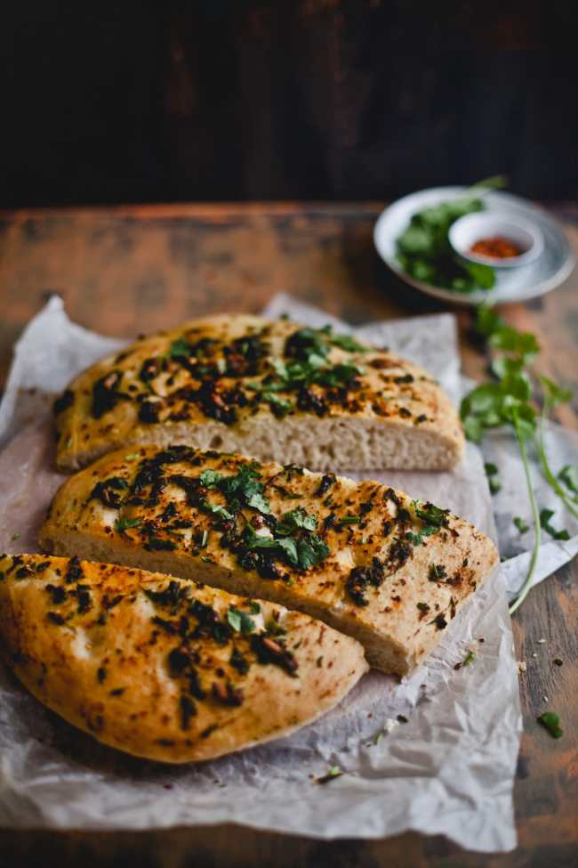 Roasted Garlic and Cilantro Bread   Playful Cooking