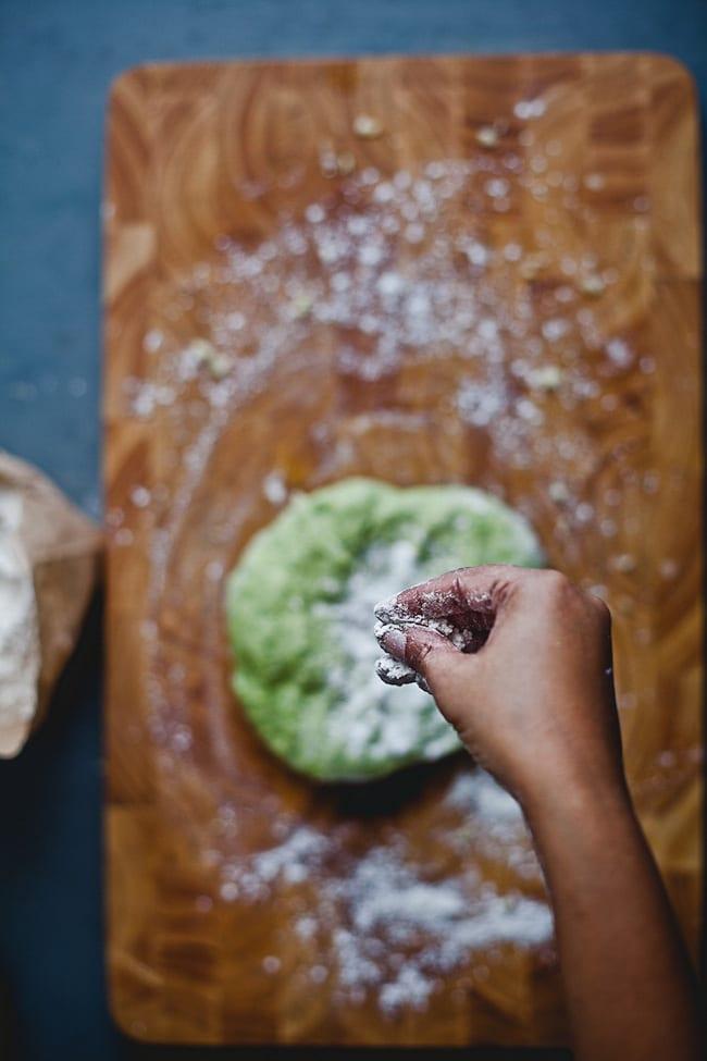 Steps to make Arugula Gnocchi | Playful Cooking
