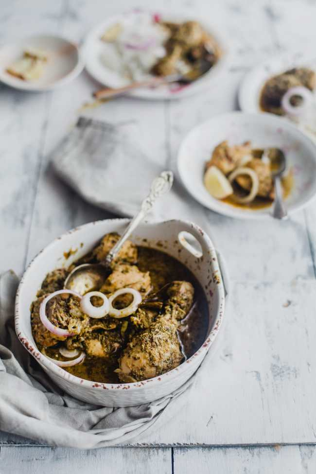 Chicken In Fresh fenugreek Leaves | Playful Cooking