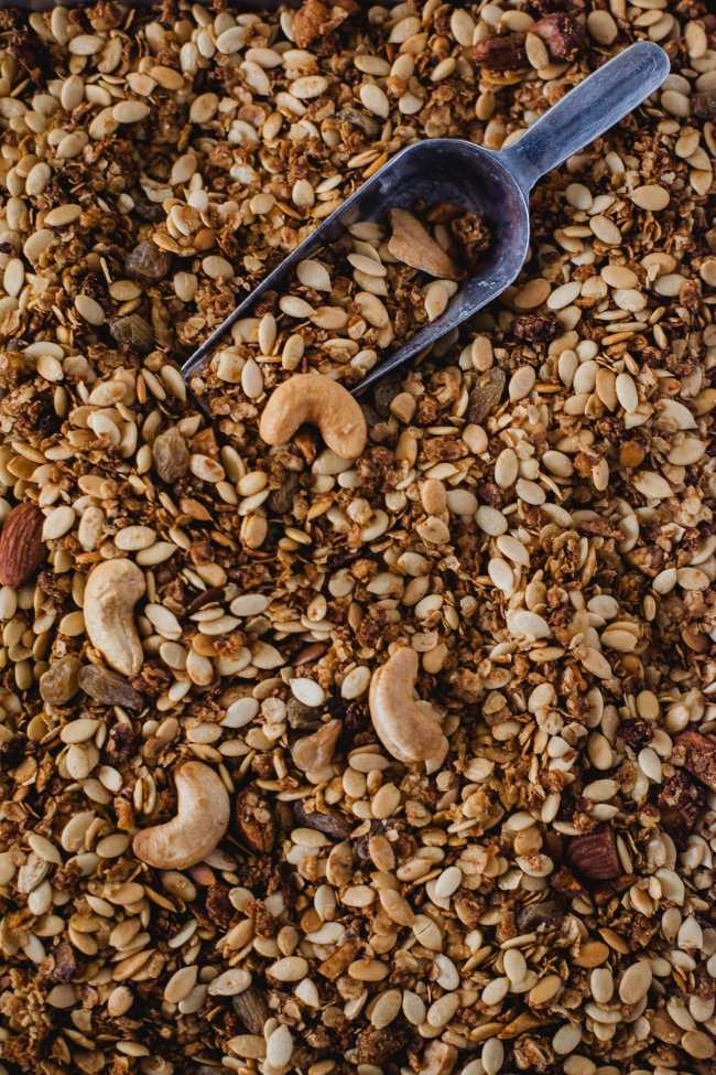 Jaggery Melon Seeds Nuts Granola | Playful Cooking