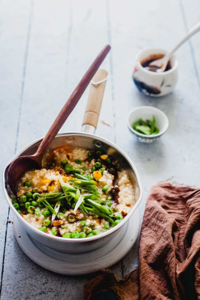 Congee With Miso Sauce | Playful Cooking
