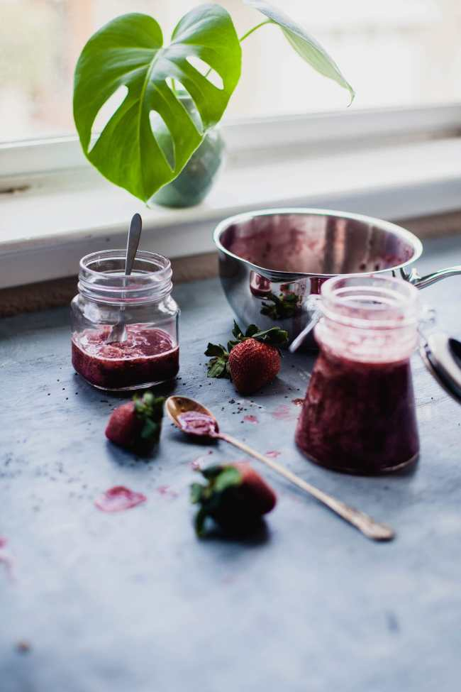 Strawberry Chia Compote | Playful Cooking
