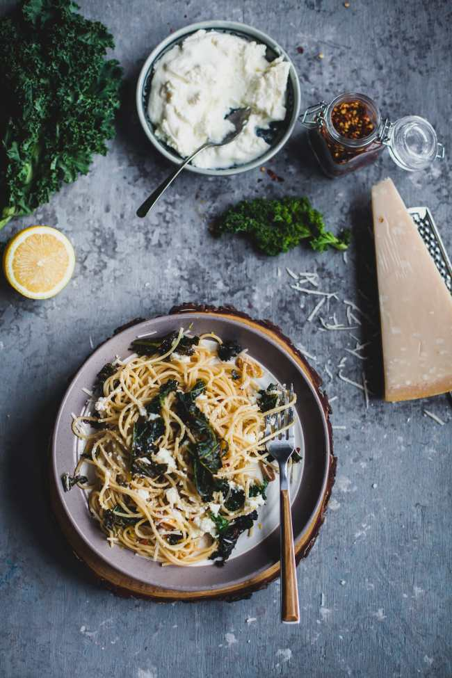 Spaghetti With Kale and Ricotta | Playful Cooking