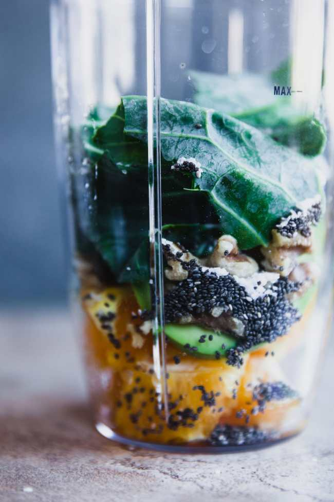 Avocado Collard Green Smoothie | Playful Cooking