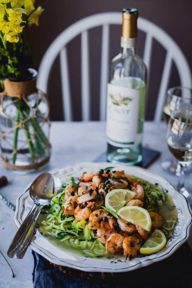 Curry Leaves And Garlic Shrimp Zoodles | Playful Cooking