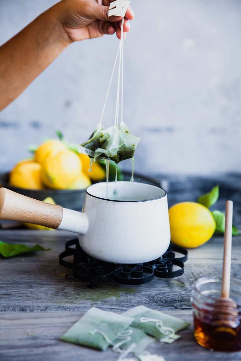 Green Tea Mint Lemonade | Playful Cooking