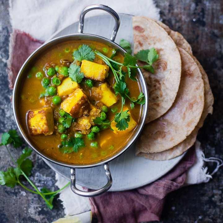 Matar Paneer (Green Peas and Paneer Curry) | Playful Cooking