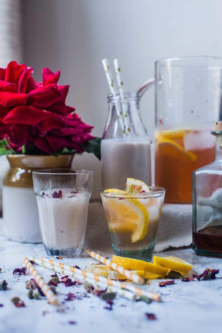 Rose Cardamom Lemon Water | Playful Cooking