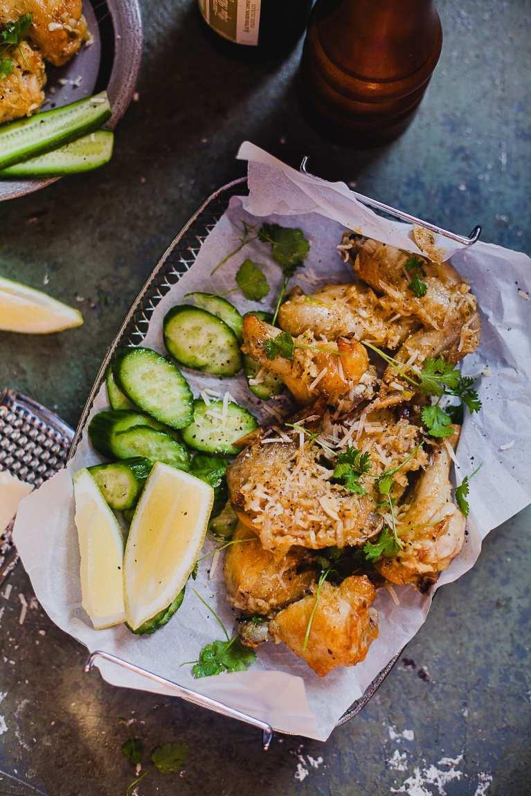 Flat Lay Food Photography   Playful Cooking #chicken #wings #baked #garlic   Playful Cooking #chicken #wings #baked #garlic