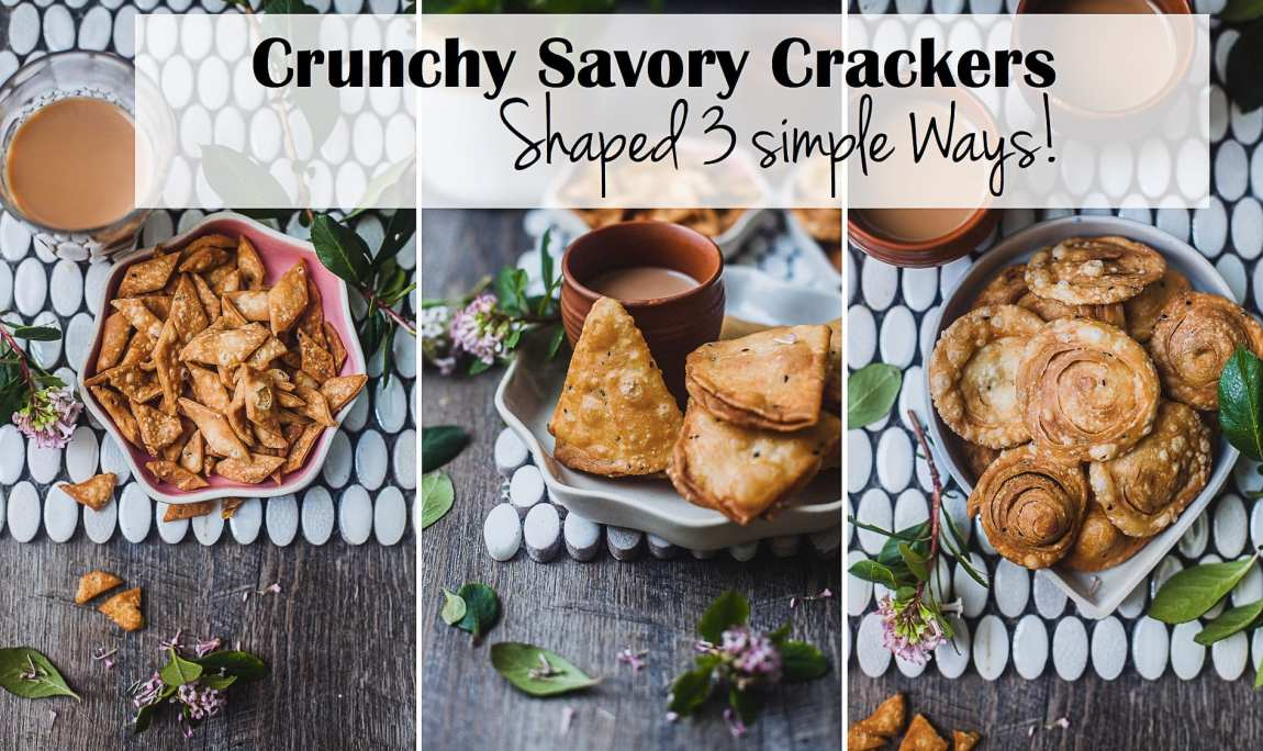 Crunchy Savory Crackers - Shaped Three Simple Ways! | Playful Cooking #foodphotography #crackers