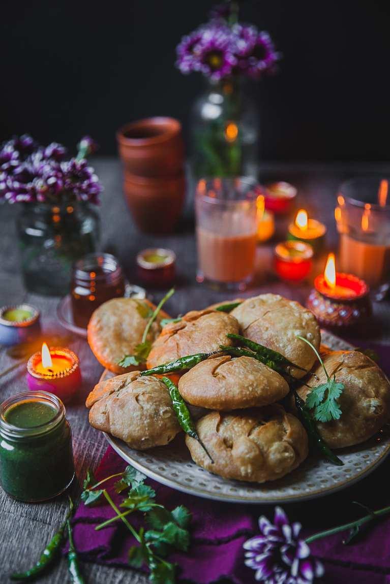 Moong Daal Khasta Kachori (Spiced Mung Bean Stuffed Flaky Dumpling) | Playful Cooking #indian #streetfood #khasta #kachori