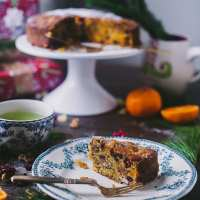 Carrot Orange Christmas Fruit Cake | Playful Cooking #cake #photography #christmascake #fruit #baking