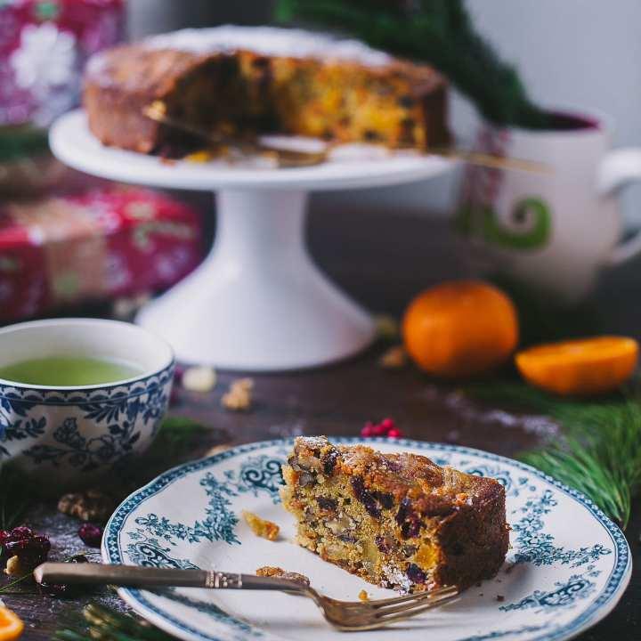 Carrot Orange Christmas Fruit Cake   Playful Cooking #cake #photography #christmascake #fruit #baking