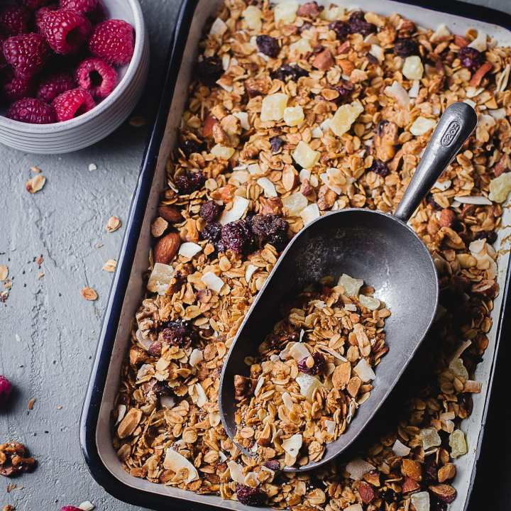 Super Simple Fruits and Nuts Granola | Playful Cooking #granola #simple #breakfast #foodphotography