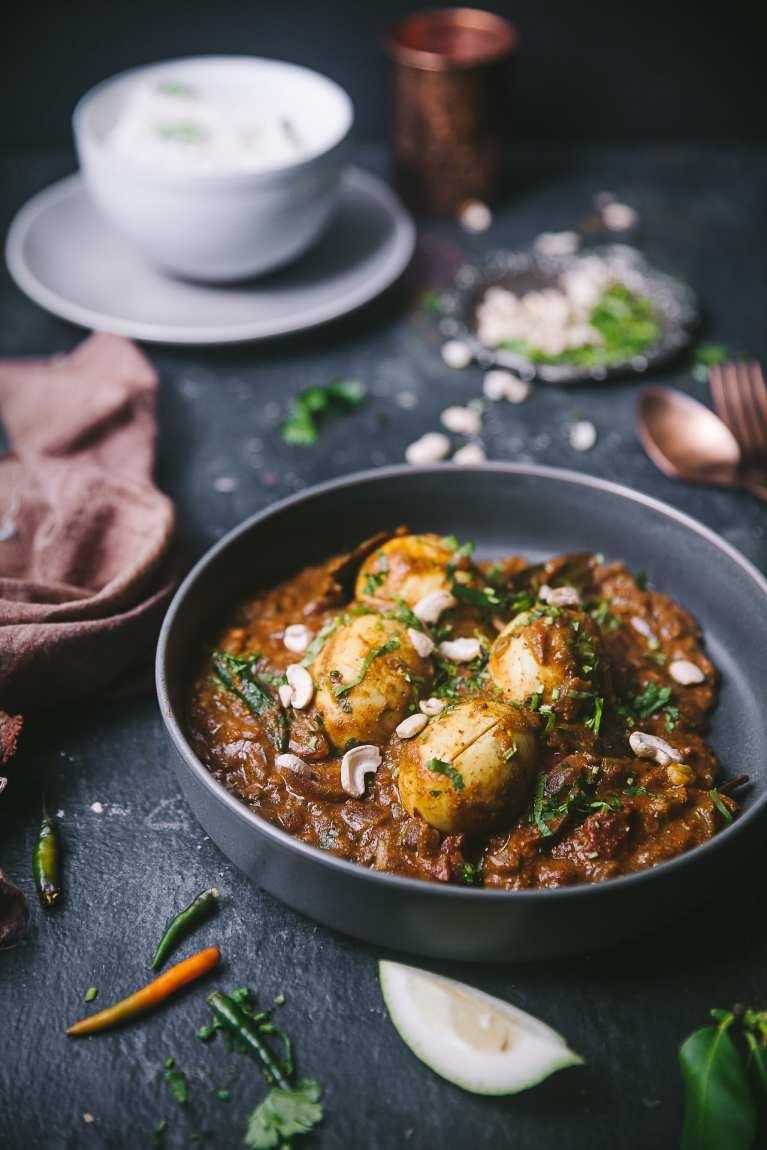 Dimer Kalia - Sweet Savory Bengali Egg Curry 14