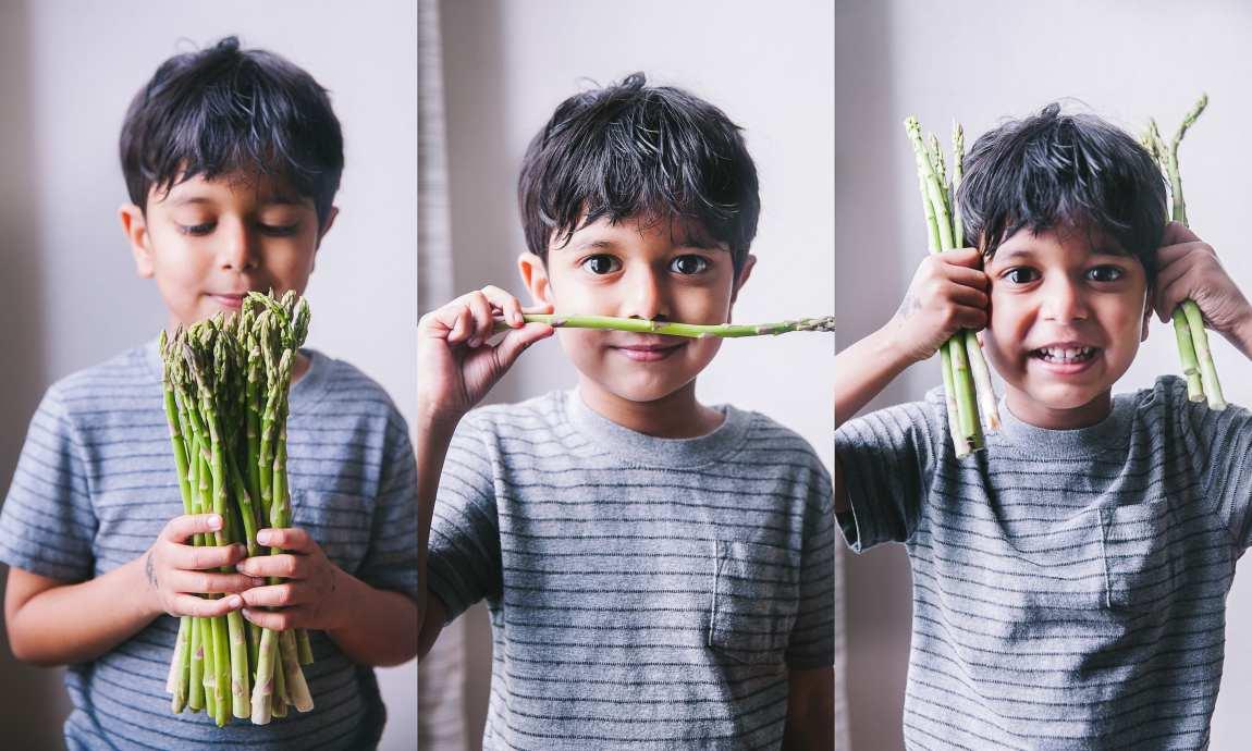 Kankana Saxena Photography #foodphotography #kidphotography #eatgreens #asparagus #photography