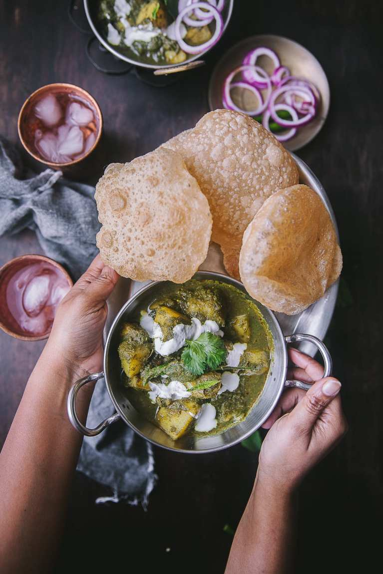 Pudina Aloo ( Potato Mint Curry) 9
