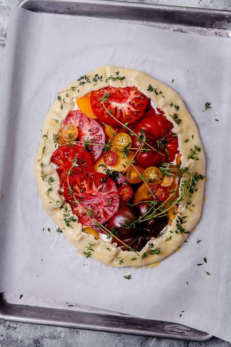 Tomato Thyme Ricotta Galette 5