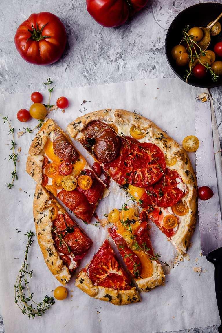 Tomato Thyme Ricotta Galette 7