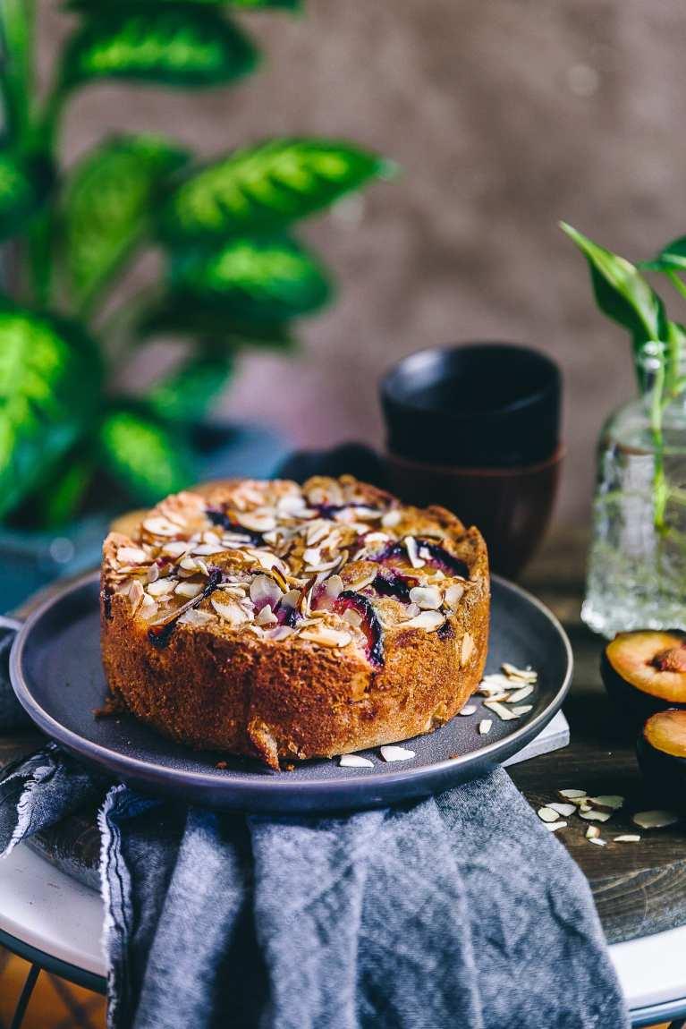 EASY Plum Almond Cake