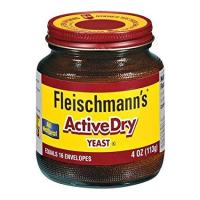 Fleischmann's Active Dry Yeast, The original active dry yeast, Equals 16 Envelopes, 4 oz Jar (Pack of 2)