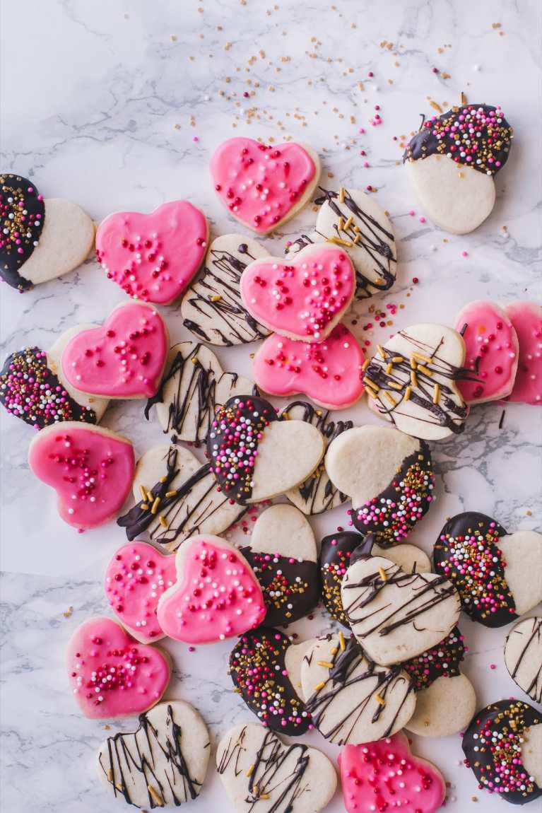 Valentine's Day Heart Shortbread Cookies 1