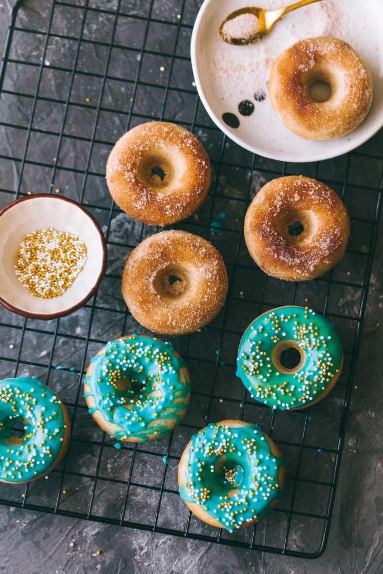 Breakfast scene ! | Playful Cooking #easydonut #donuts #bakeddonuts #foodphotography